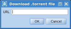 Download a torrent in FrostWire from a URL