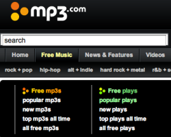 MP3.com Free Downloads