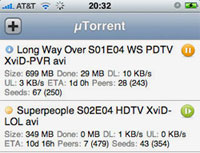 uTorrent WebUI For The iPhone