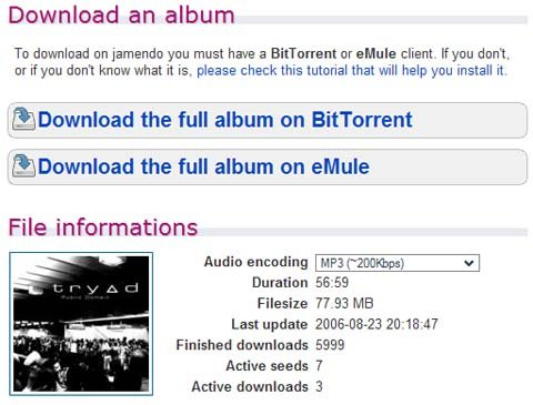 jamendo free BitTorrent music