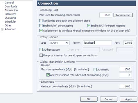 BitTorrent: Bypass any Firewall or Throttling ISP with SSH
