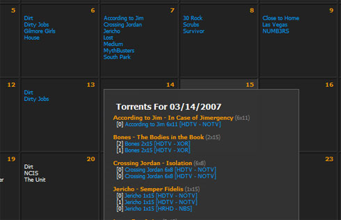 tv torrent calendar bittorrent