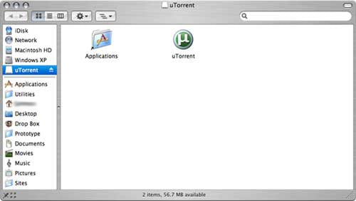 uTorrent Installation DMG