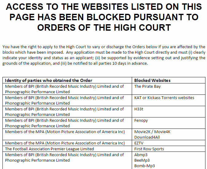 Pirate site blockades can be challenged bt says mr lobaloba news while its unlikely that individual subscribers will be successful in getting a blockade lifted the affected sites may have more success ccuart Image collections