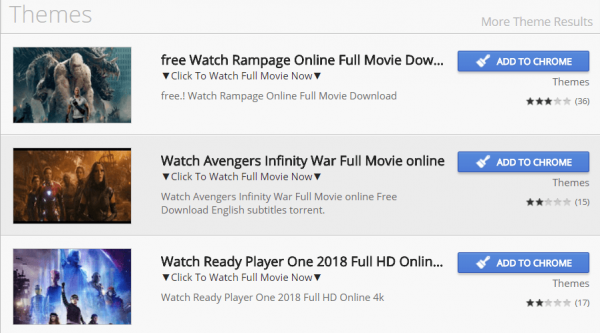 Google S Chrome Web Store Spammed With Dodgy Pirate Movie Links