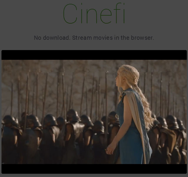 Cinefi Streams Movie and TV-Torrents Straight to Your Browser