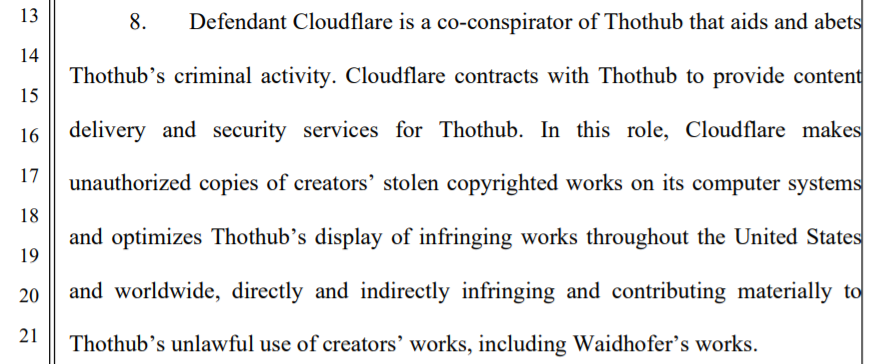 cloudflare allegation