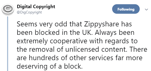 Zippyshare is Blocked for UK Visitors, But Why? - TorrentFreak
