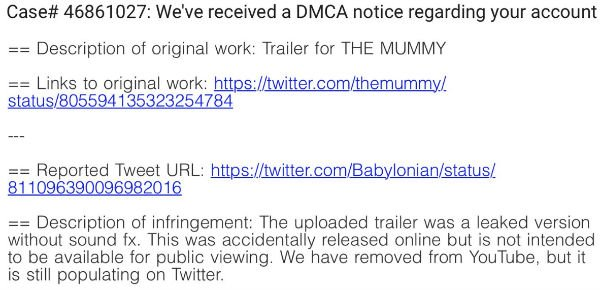 Takedown Notices Can T Stop Unfinished Mummy Trailer From Spreading Torrentfreak How to keep a mummy. takedown notices can t stop unfinished mummy trailer from spreading torrentfreak