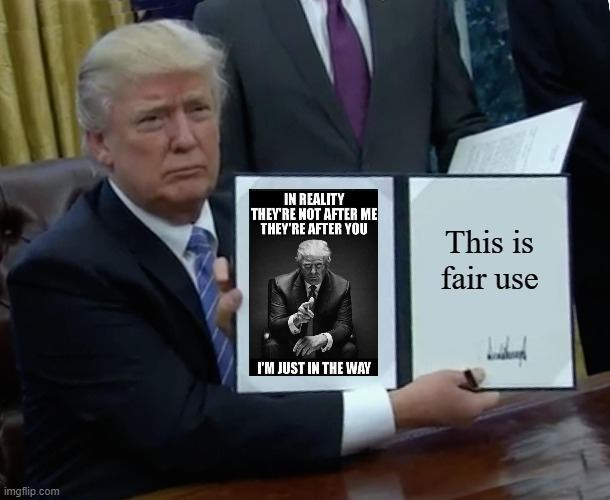 fair use trump
