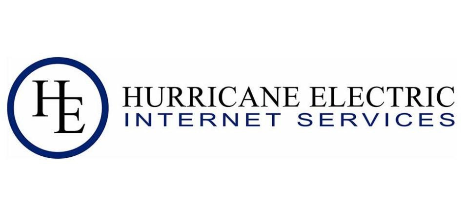 he logo hurricane electric