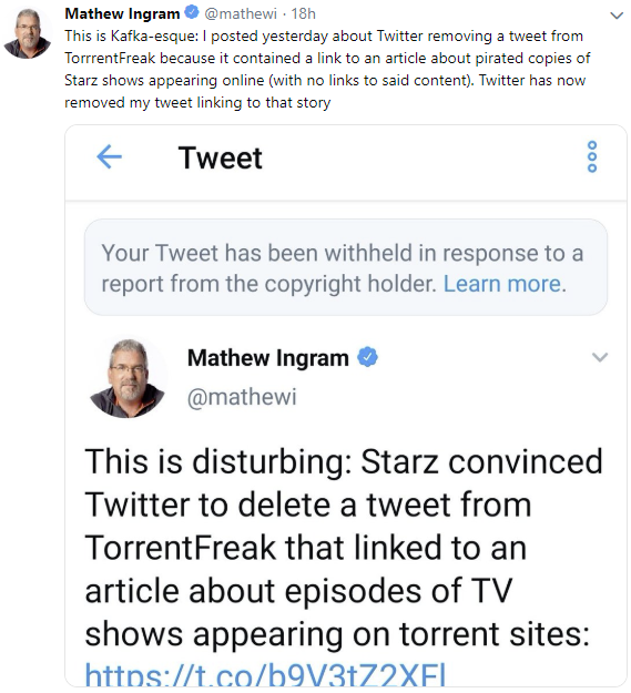 Starz Goes on Twitter Meta-Censorship Spree to Cover Up TV-Show