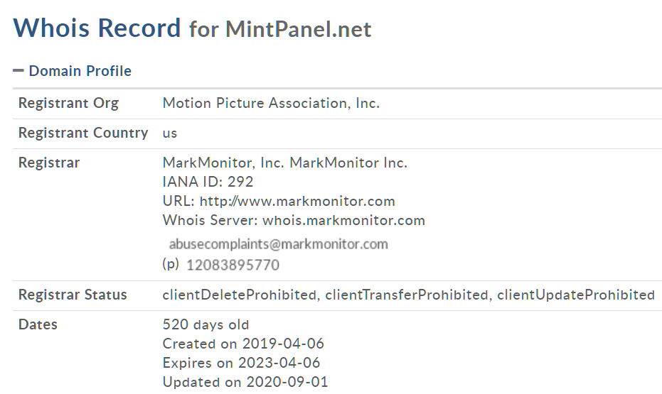 MintPanel Seized
