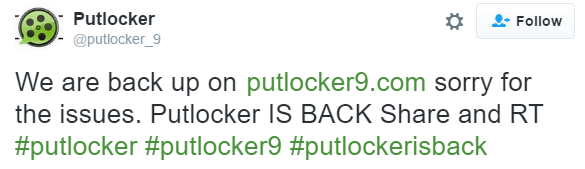 Putlocker.is Mysteriously Goes Down - TorrentFreak
