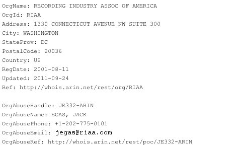 RIAA: Is Anyone Using Our IP for Piracy