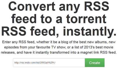 Torrent-Enable any RSS Feed With a Couple of Clicks