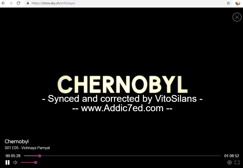 Sky Streaming Service Uses 'Pirate' Subtitles on Chernobyl