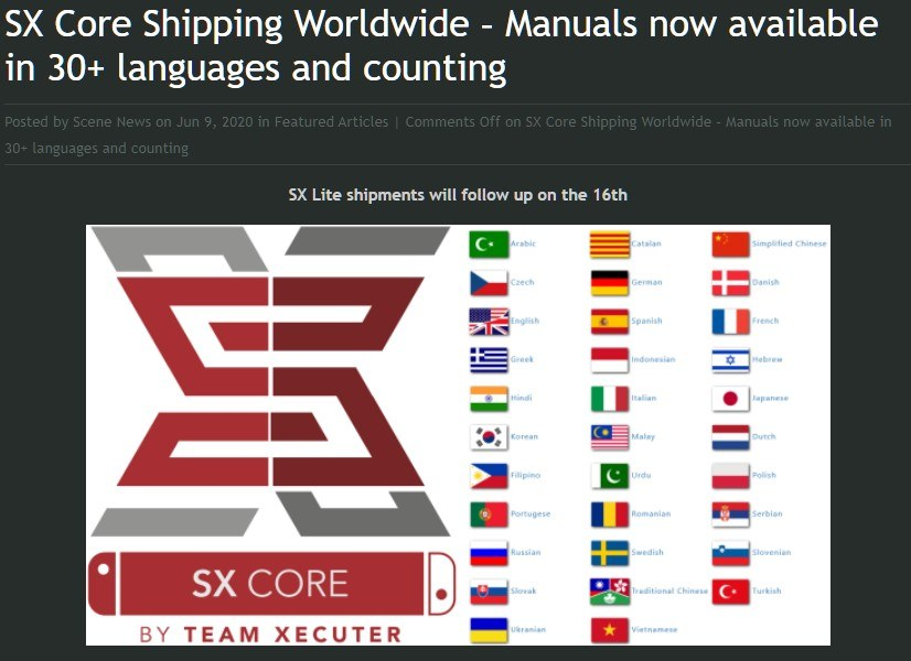 SX products from Team-Xecuter Shipping