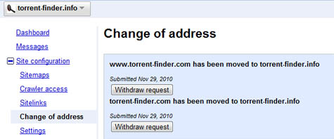 TorrentFinder .com to .info