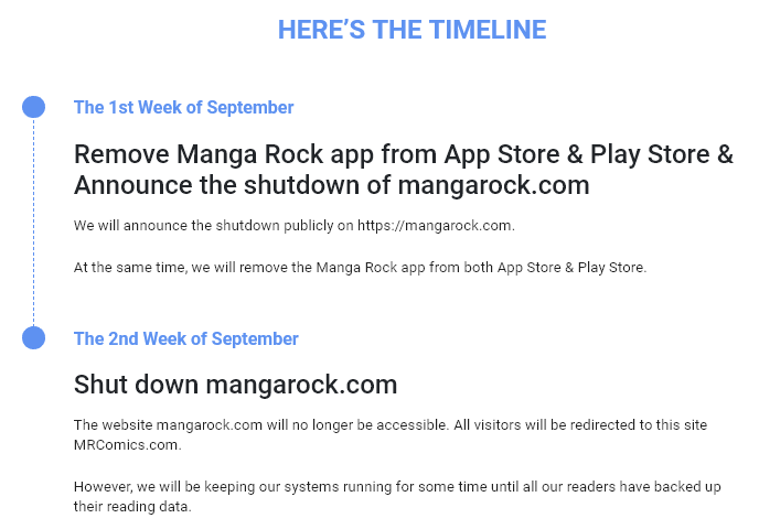 Pirate' Site Manga Rock Starts Shutdown, Will Go Legal