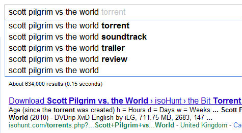 Scott Pilgrim Vs. The World torrent