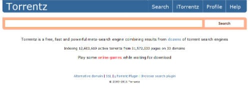 torrentz search homepage