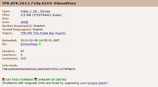 Pirate Bay Transforms into The World's Biggest Streaming