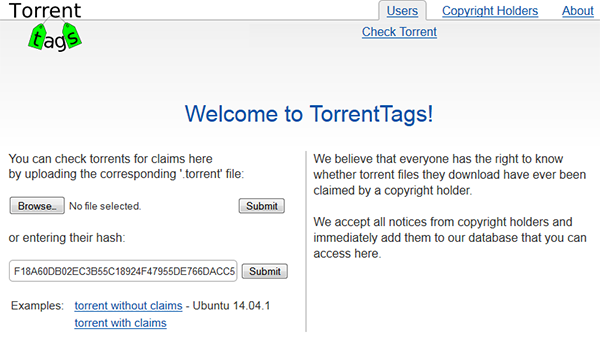 TorrentTags: A Database of \u0027Risky\u0027 Torrents - TorrentFreak