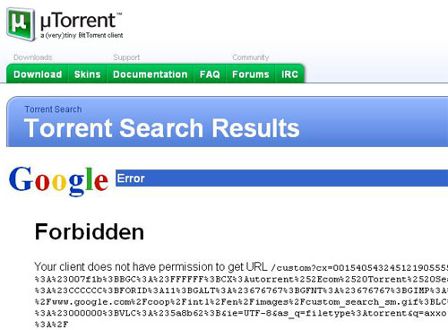 how to add custom search engine in utorrent