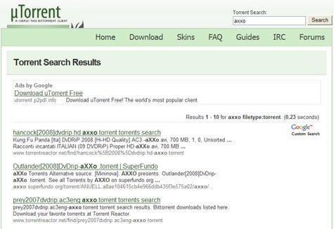 utorrent google search