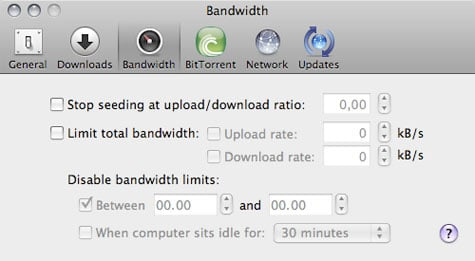 utorrent mac settings