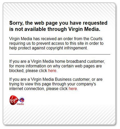 virgin tpb blocked